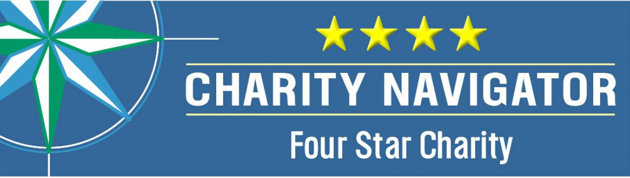 Four-star Charity Navigator logo