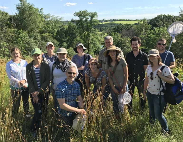 Group photo of pollinator team staff gathered in Minnesota for a training event