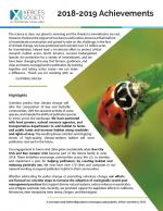 An image of the cover of the annual report. There is a large photo of a lady bug to one side, and text on the rest of the page.